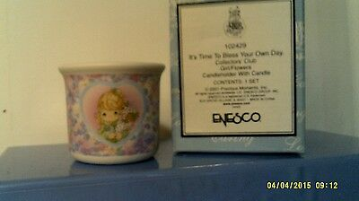 2001 Precious Moments It's Time To Bess Your Own Day Candle-New In Box-Free Ship