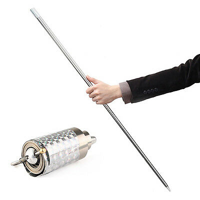 Appearing Cane Metal Silver Wand Close Up Illusion Silk to Wand Tricks Stunning