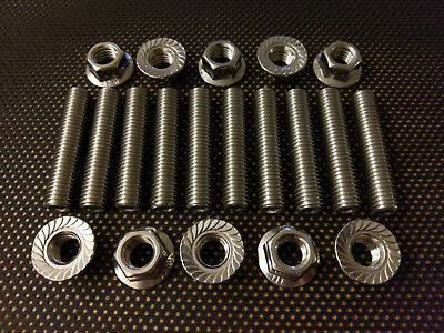 Citroen Saxo 16V Stainless Exhaust Manifold Studs and Flange Nuts VTR VTS