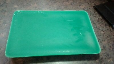 """1.9kg """"FESTIVE GREEN(SPRUCE)"""""""" candle making wax.FREE wicks and instructions."""
