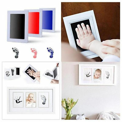 Photo Frame Kits Newborn Baby Handprint and Footprint with Clean Touch Ink Pad