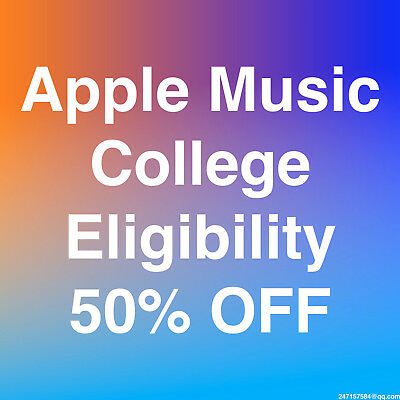 [120+ Sold] Apple Music College Discount 50% Eligibility Verification