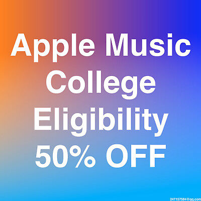 [200+ Sold] Apple Music College Discount 50% Eligibility Verification