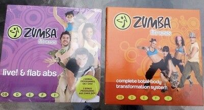 LIVE! & FLAT ABS & ZUMBA FITNESS EXERCISE 4 DVD LATIN DANCE WORKOUT Free UK Post