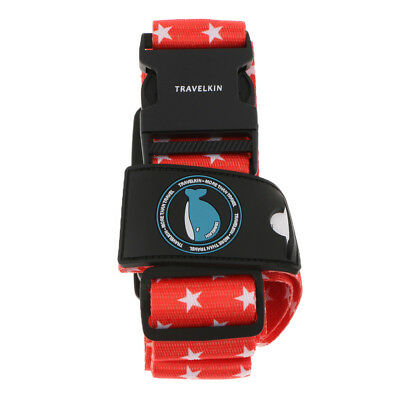 Cross Luggage Strap-Brightly Colored Adjustable Suitcase Belt with TSA Lock