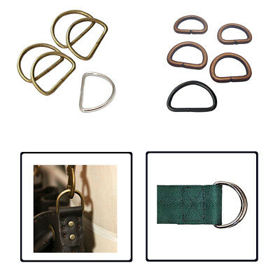 10pcs D Rings Buckles for Fastening Webbing Pet Collars Arts and Crafts Handbags