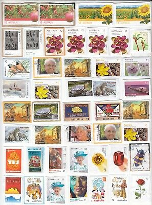 Over 350 Australia Quality Unfranked Stamps On Paper