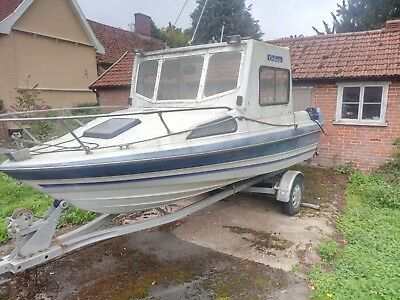 Bayliner Fishing Boat 21' Mariner 90 & 9.9 Outboards Trailer & Many Extras