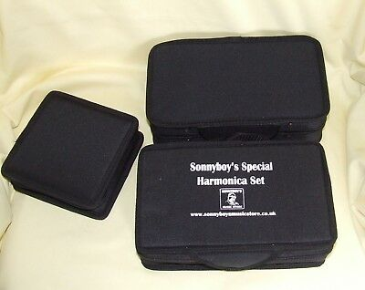 Zip up harmonica case, 3 and 7 harmonica sizes available