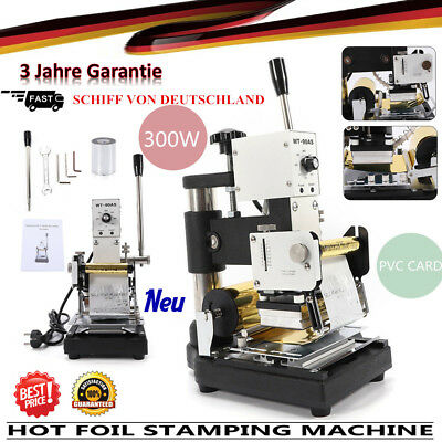 Manual Hot Foil Stamping Machine Digital Gold foil Paper Leather PVC Stainless