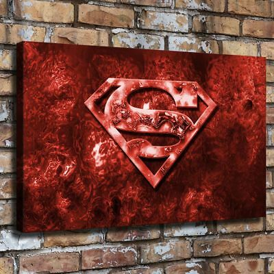 "12""x20""Superman Logo HD Canvas Prints Painting Home Room Decor Picture Wall Art"