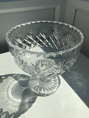 Collectable Crystal Footed Fruit Bowl