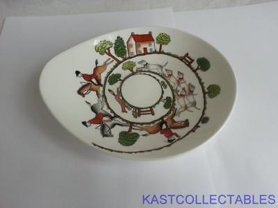Crown Staffordshire Hunting  Scene Bon-Bon Dish - Free UK Delivery