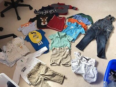 Baby Boy Bundle 9-12 Burberry Tommy Hilfiger Benetton M&M Fisher Price Next Gap