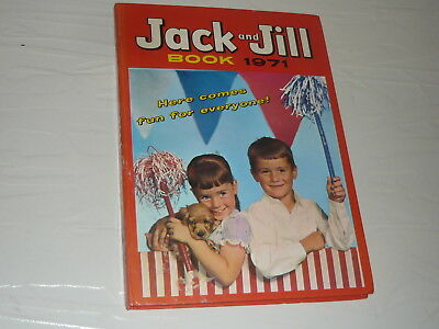 Annual Comic Book 1971 hardback Jack and Jill 96 pages adventure cartoon puzzle