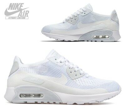 the best attitude eeb6f 9b79b Nike Air Max 90 Ultra 2.0 Flyknit Gr.42,5 Weiß Platinum 881109-