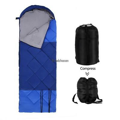 Single Envelope Sleeping Bag Light Waterproof Camping Hiking outdoor family safe