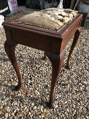 antique piano stool with storage. Collection CM22