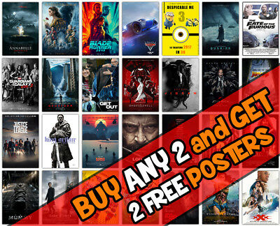 *B20* 2018 New Movie Cinema Film Wall A3 A4 Poster Options Print Buy2 Get 2Free