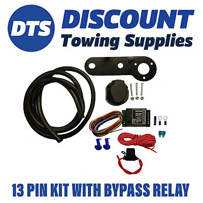 Universal 13 Pin Electric Towbar Wiring Kit Inc Bypass relay