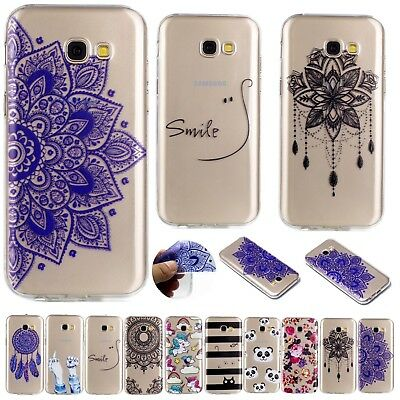 Painted Thin Silicone Clear Soft Case Cover For Samsung Galaxy J4 J6 Plus A6 A8