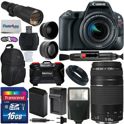 Canon EOS Rebel SL2 DSLR Camera +5 Lens: 18-55mm 75-300mm 500mm Top Value Bundle