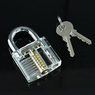 Clear Lock Transparent See-through Padlock For Locksmith Practice Training Tool
