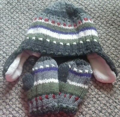 Next Hat & Mittens Set 3-5 years