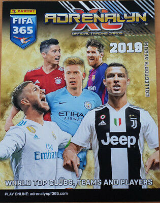 Panini FIFA 365 Adrenalyn XL 2019 Complete Team Sets + Fans Favourites 18 cards