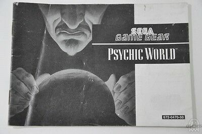 Official Instruction Manual - PSYCHIC WORLD - Game Gear - Sega.