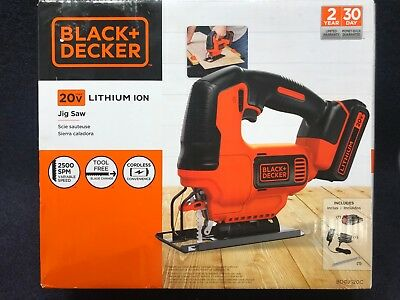 Black & Decker 20 Volt Cordless Jig Saw Model: BDCJS20C with Same Day Shipping