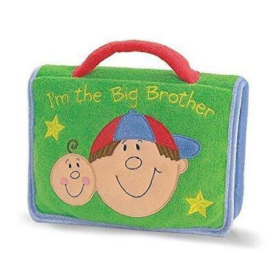 "Enesco Big Brother 7"" Green Plush Cover Photo Album by Gund Boys Keepsakes Gifts"