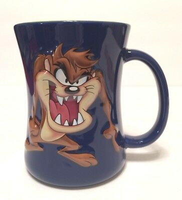 Encore Xpres Looney Tunes Taz Tasmanian Devil Mug Ceramic 3D Blue Yellow NWT