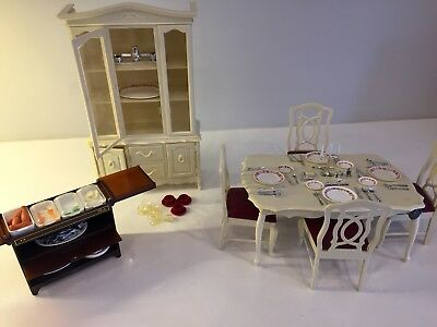 Sindy Furniture Lot: Hostess Trolley, Dining Room Table, Breakfront/Buffet