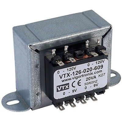 Vigortronix VTX-126-020-609 Chassis Mains Transformer 20VA 0-9V