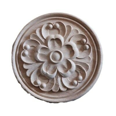 Elegant Woodcarving Decal Round Furniture Wooden Wall Decor European Style New
