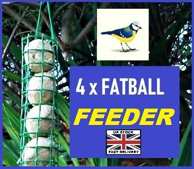 FAT BALLS FEEDER ~ FREE POST ~ Low Price & Simple design holds 4 Fat Balls !