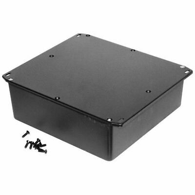 Hammond 1590FFLBK Diecast Enclosure Flanged Lid Black (187.5 x 187.5 x 67mm)