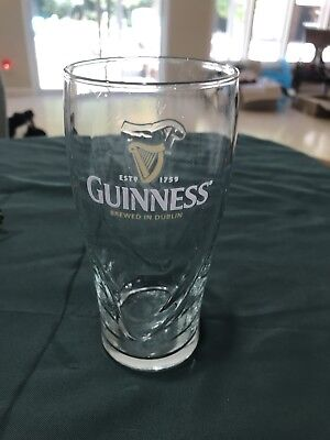 Guinness Gravity Beer Glass Embossed 13 Ounce  (CL)
