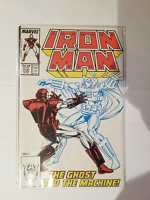 IRON MAN #219 VF Condition 1st appearance of Ghost / Ant Man Wasp Movie