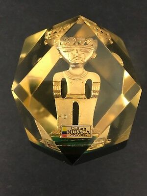 Cultura Muisca Colombia Gold figurine Replica Paper Weight Colombian (FREE SHIP)