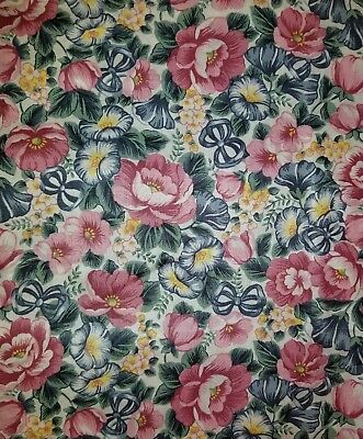 Longaberger Mother's Day 1993 fabric.  Big 44 inches wide. 1 1/2 yard piece