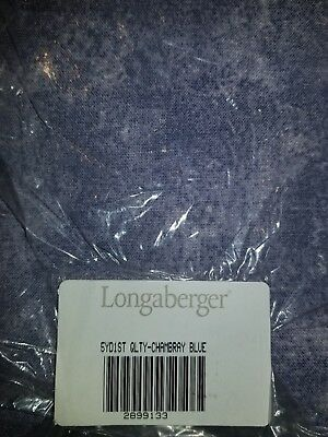 Longaberger Chambray fabric.  Big 56 inches wide. 5 yard piece - new in package