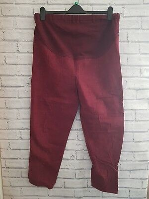 Mothercare Over Bump Maternity Jeans Size 14 burgundy