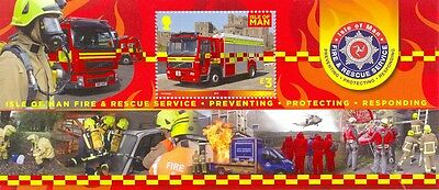 Isle of Man/Fire & Rescue 2013 new issue mnh Min sheet-Fire Engines