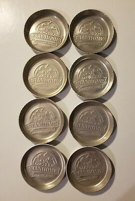 8 StanHome Stanley Home Products Hostess Gift Aluminum Coasters Ashtray Vintage