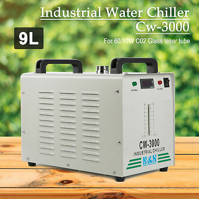 Industrial Water Chiller 60W/80W CO2 Laser Tube CW-3000 110V 60HZ