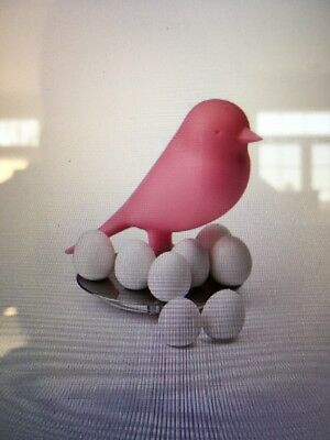 Qualy Sparrow Egg Magnets - Pink - New in Box