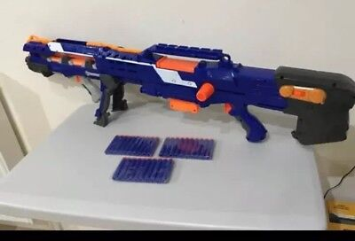 Nerf Strike Elite Long Shot CS 6 Rifle With Magazine, 30 New Darts, Bipod