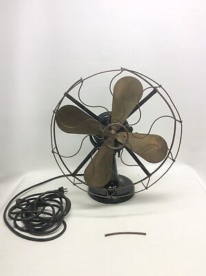 "Westinghouse Brass Blade And Brass Cage Electric Fan last pat 1893 17"" Cage"